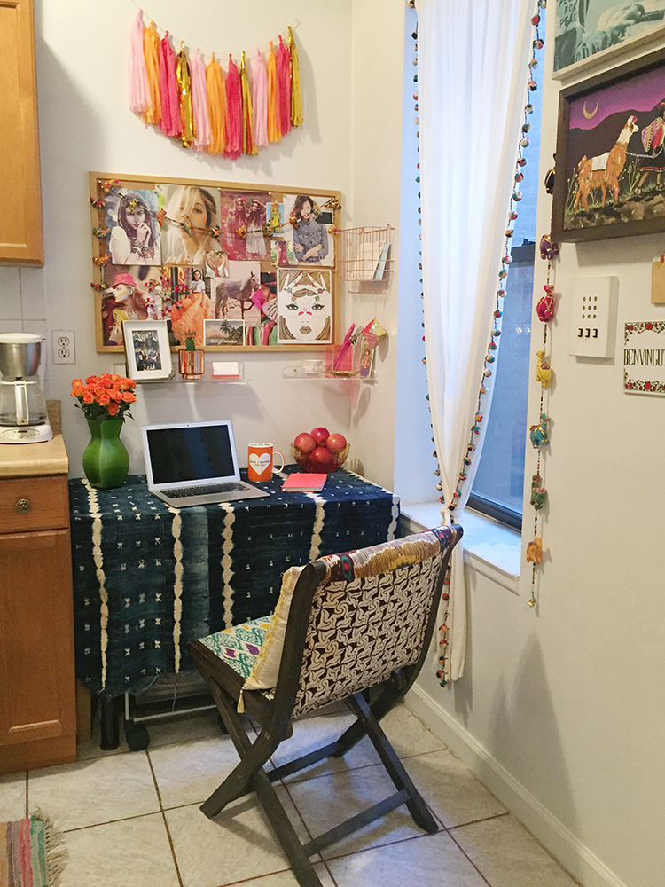 the neon tea party home office reveal