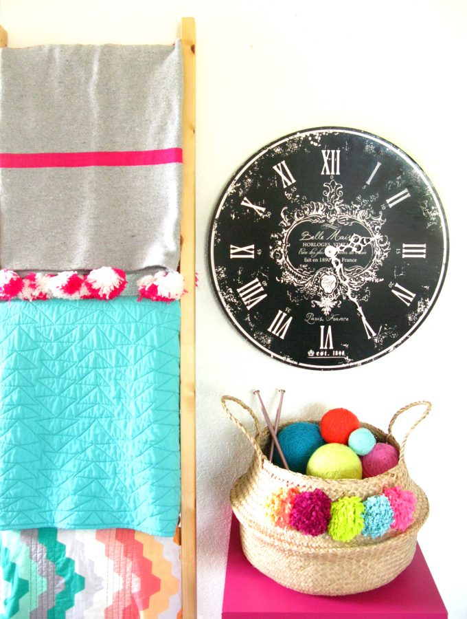 Guest DIY: T-Shirt Pompom Basket by CRAVE by CRV