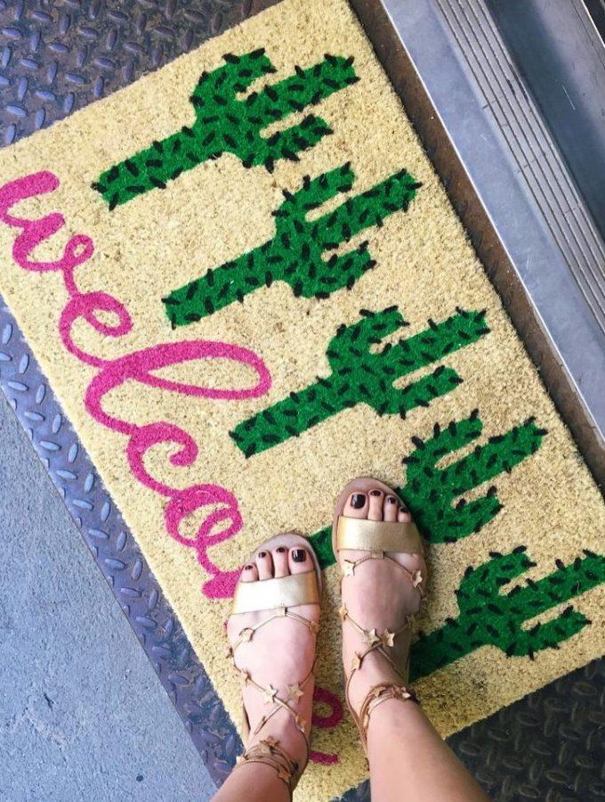 the neon nine: playful doormats