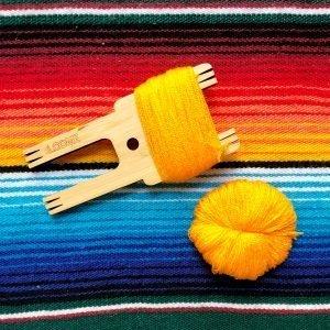 The Neon Tea Party Loome Pom Pom Tassel tool with Omegacryl Pom Pom Pancake