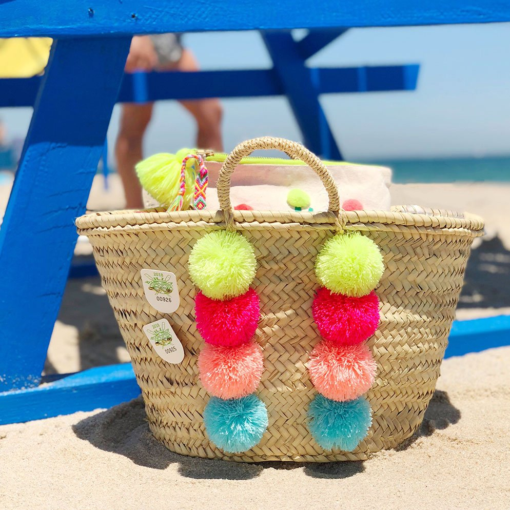The Neon Tea Party Pom Pom Basket DIY