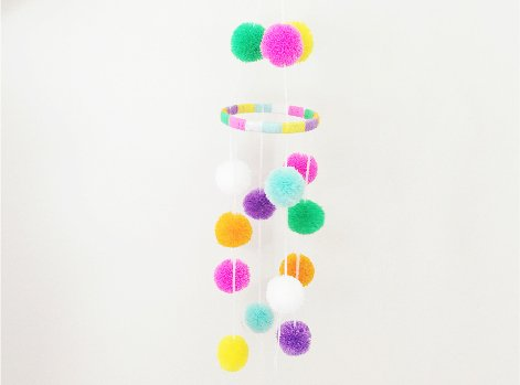 Pom Pom Mobile (perfect for baby showers!)