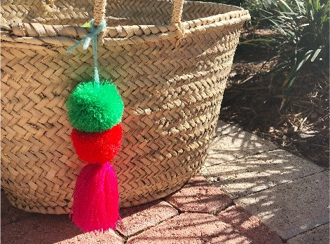 Pom-Tassel Bag Charms
