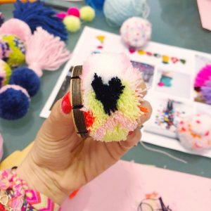 The Neon Tea Party Loome Trim Guide Heart Pom Pom