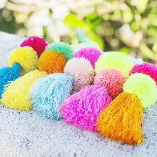pom pom bag charms