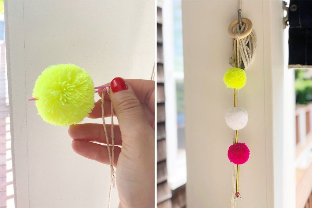 diy pom pom pajaki chandelier the neon tea party