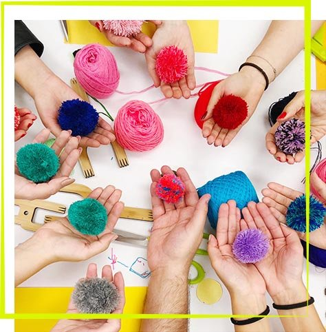 The Neon Tea Party Pom Pom Workshop