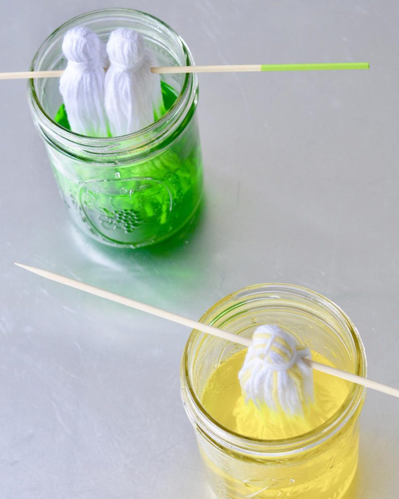 DIY Dip-Dye Neon Tassel Chandelier Fancy Flamingo Designs The Neon Tea Party