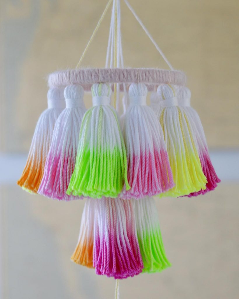 Tassel Chandelier Fancy Flamingo Designs The Neon Tea Party