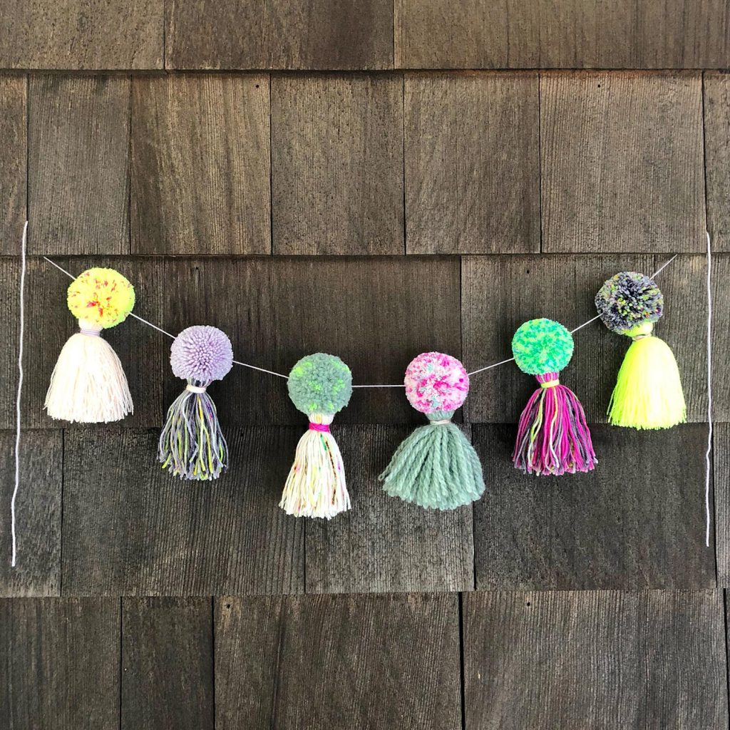 DIY Pom Pom & Tassel Garland with Fancy Tiger Crafts
