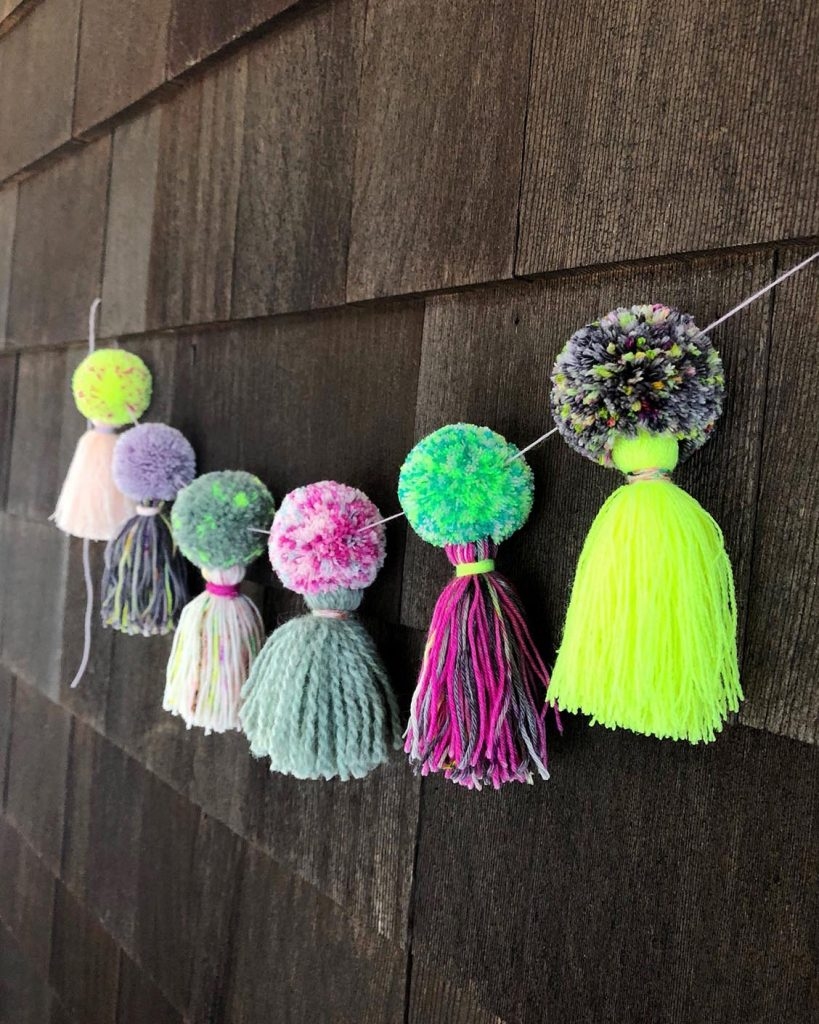 Fancy Tiger Crafts Pom Pom Tassel Garland DIY The Neon Tea Party