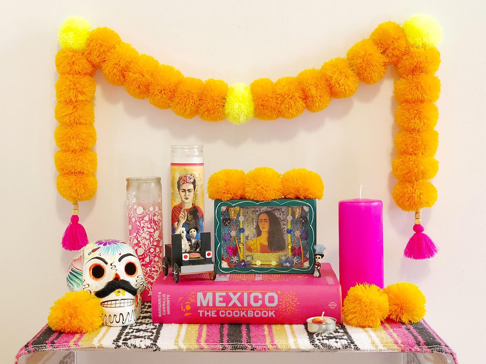 Diy Cempasuchil Marigold Pom Pom Garland With Artelexia