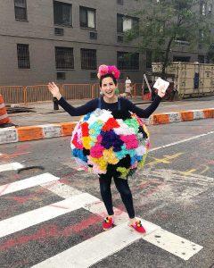 The Neon Tea Party DIY Giant Pom Pom Costume