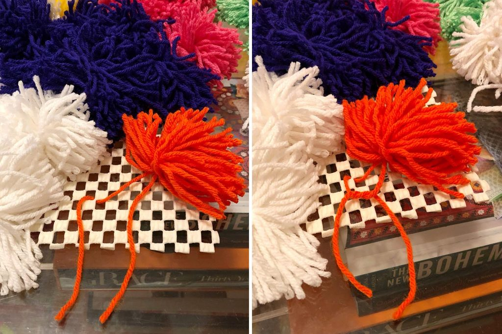 The Neon Tea Party DIY Giant Pom Pom Costume