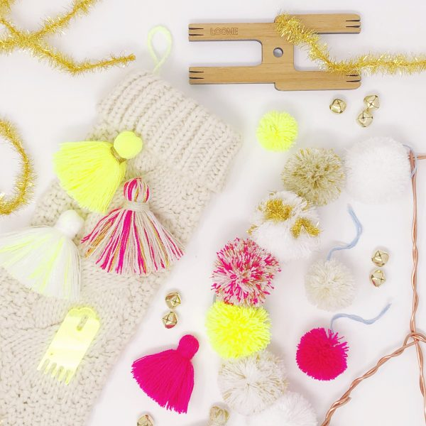 The Neon Tea Party Holiday Pom Pom Tassel Crafts