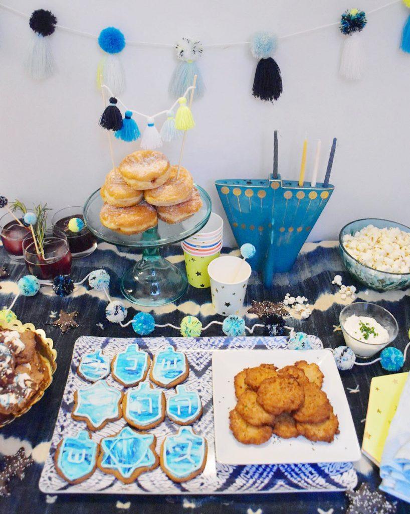 Pom Pom Hanukkah Decorations The Neon Tea Party