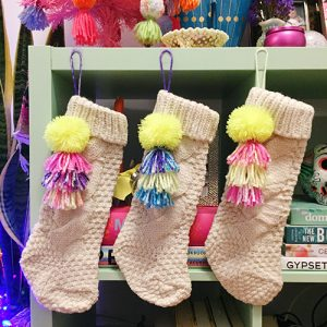 Pom Pom-Tassel Stockings