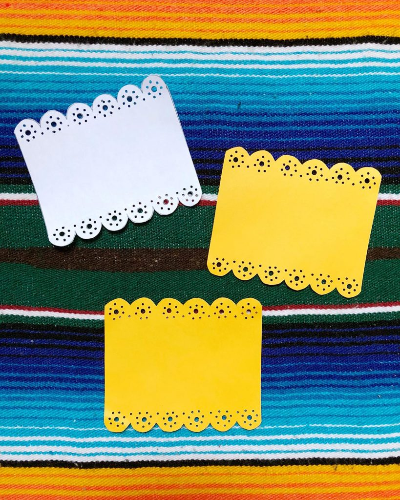 DIY Papel Picado Place Cards