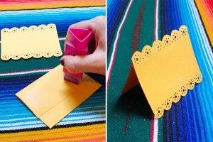 DIY Papel Picado Place Cards