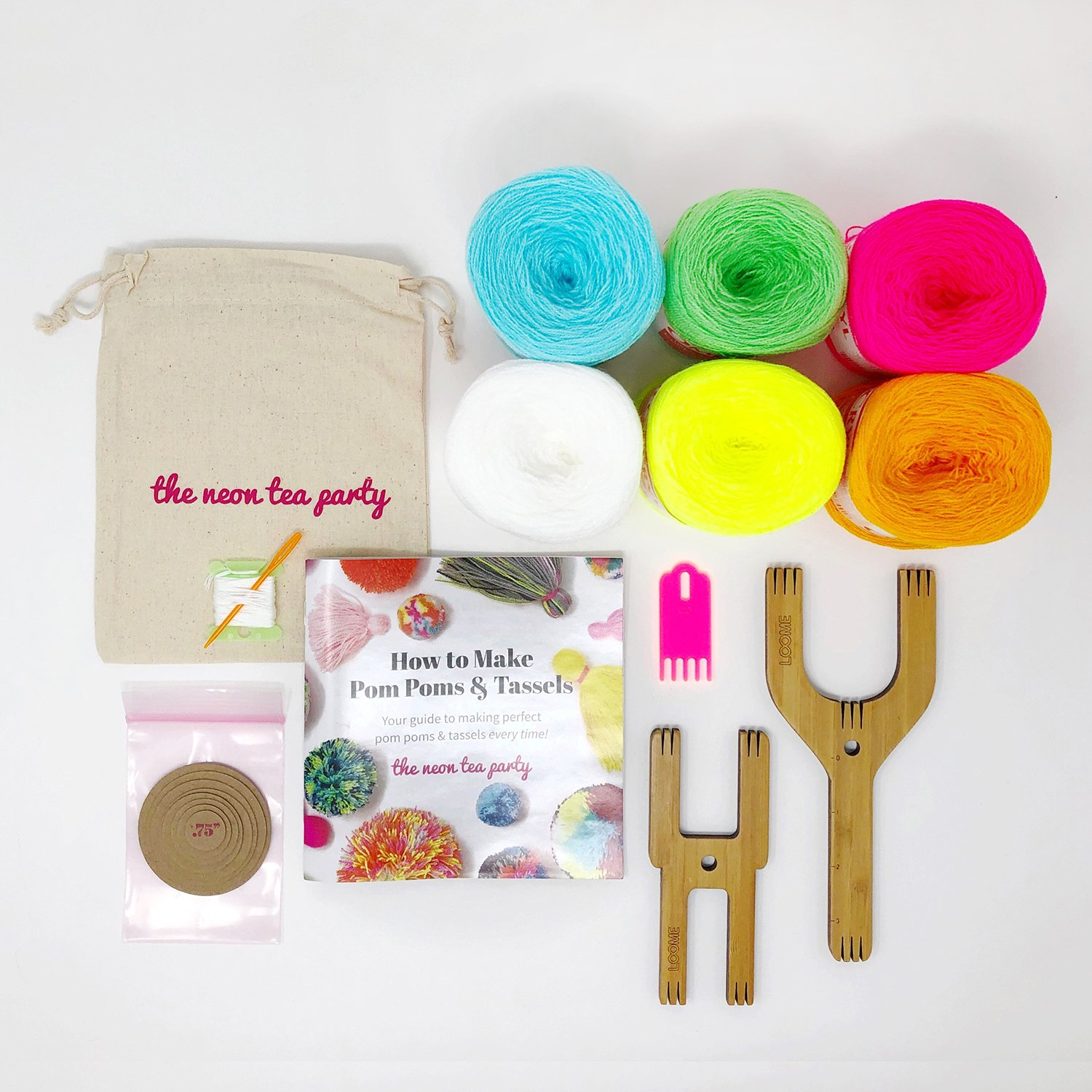 Pom Pom and Tassel Kit - Deluxe - The Neon Tea Party