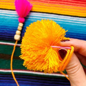 The Neon Tea Party Yarn Needle Use 3