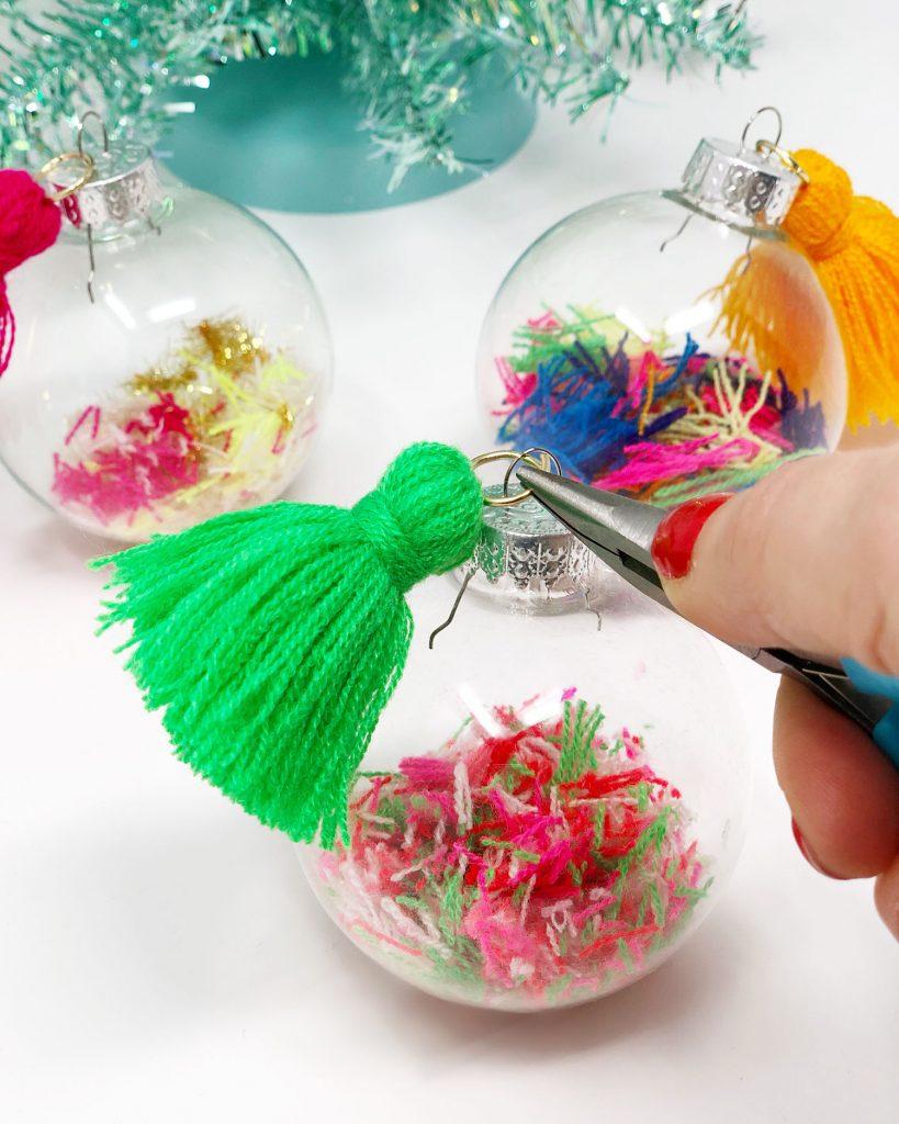DIY Yarn Scrap Pom Poms The Neon Tea Party