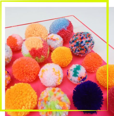 Oh Canary The Neon Tea Party Adult Pom Pom Workshop