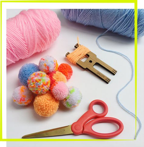 Oh Canary The Neon Tea Party Parent Child Pom Pom Workshop