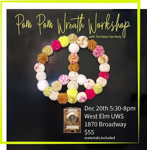 Pom Pom Wreath Workshop