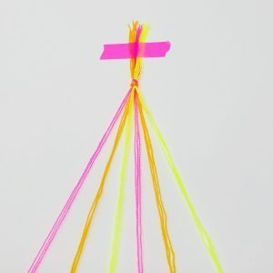 Candy Stripe Friendship Bracelet DIY 01 The Neon Tea Party