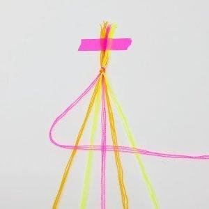 Candy Stripe Friendship Bracelet DIY 2 The Neon Tea Party