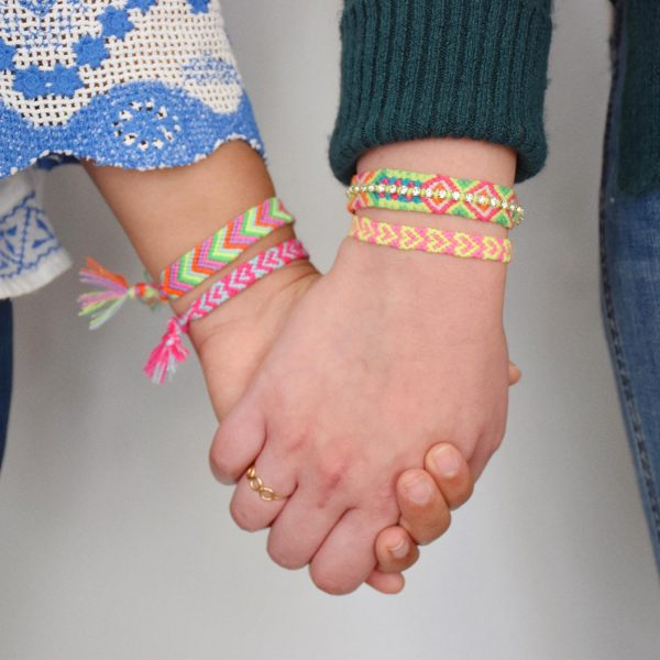 Friendship Bracelet holding hands square social