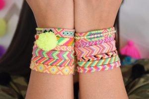 The Neon Tea Party Friendship Bracelet DIY Image