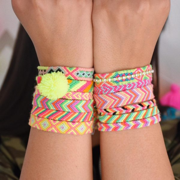 The Neon Tea Party Friendship Bracelet square