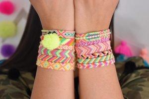 The Neon Tea Party Friendship Bracelets