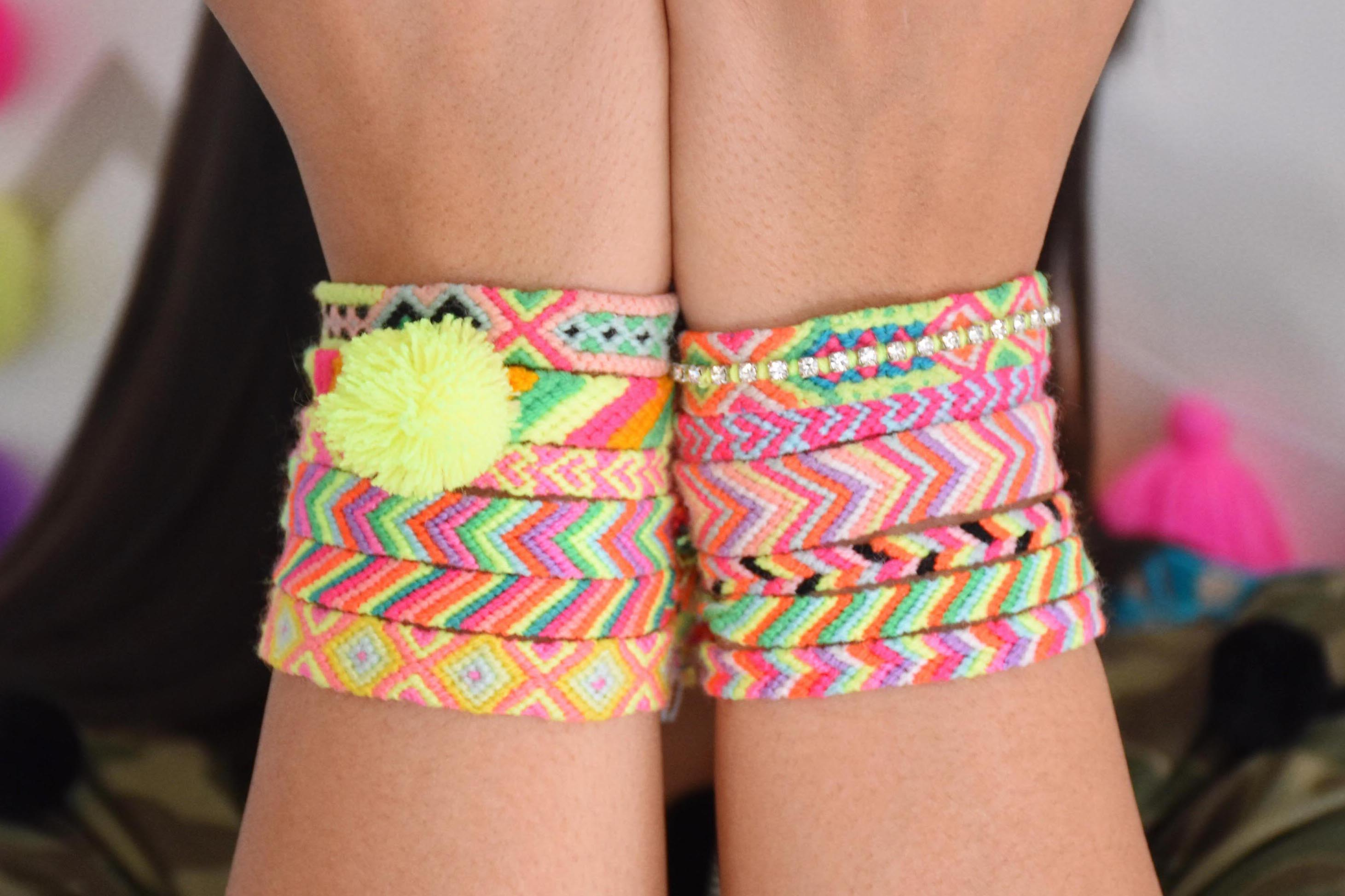 The Neon Tea Party Friendship Bracelets tight crop