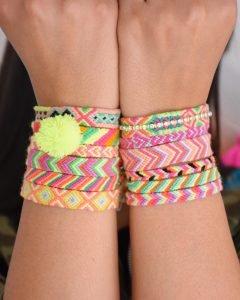 The Neon Tea Party Friendship Bracelets vertical