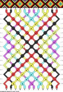 Friendship Bracelet Pattern 16695