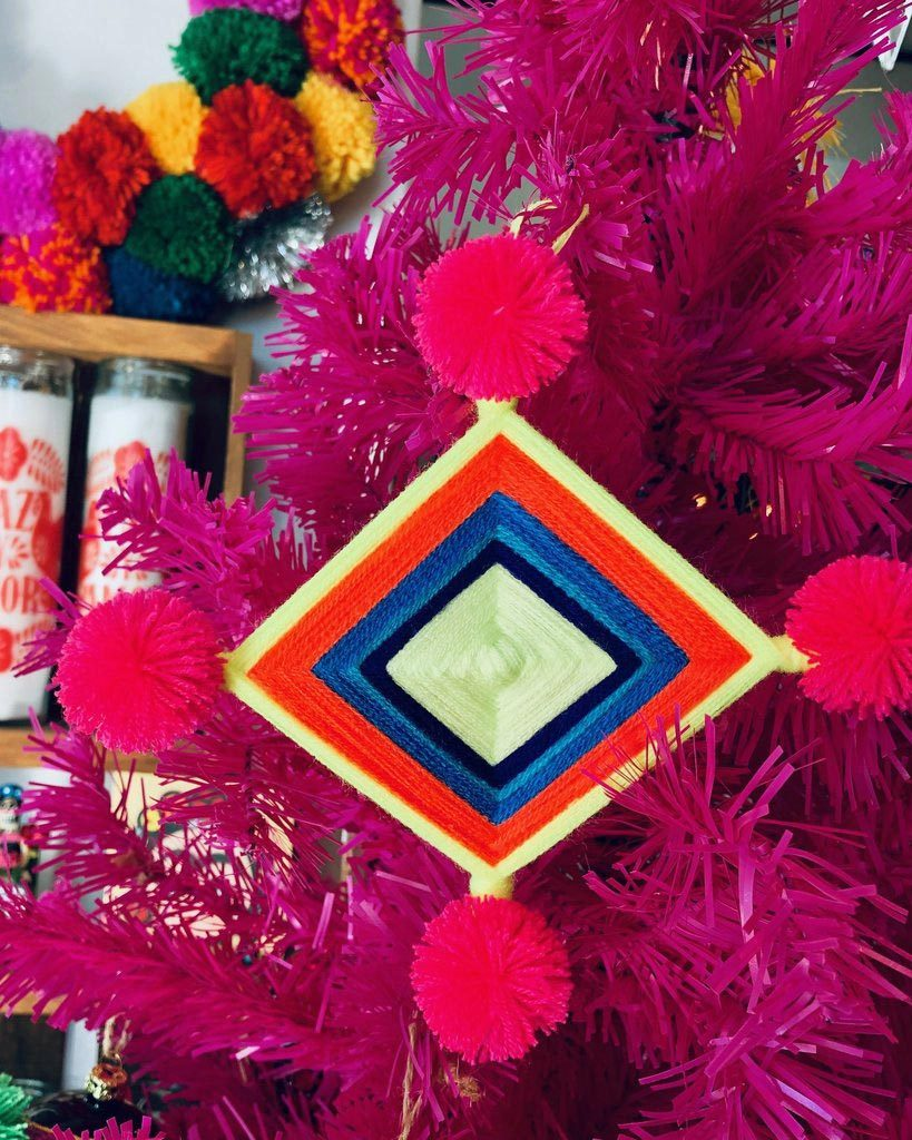 Ojo De Dios Christmas Ornaments Artelexia The Neon Tea Party