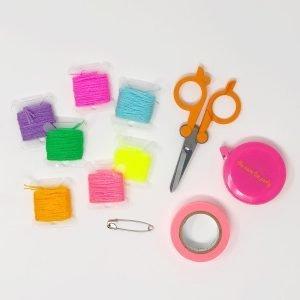 The Neon Tea Party Heart Friendship Bracelet DIY 16