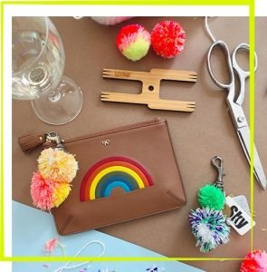 The Neon Tea Party Pom Pom Keychain Workshop