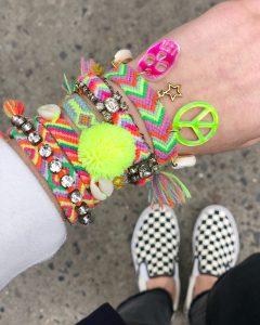 The Neon Tea Party DIY Embellished Friendship Bracelets