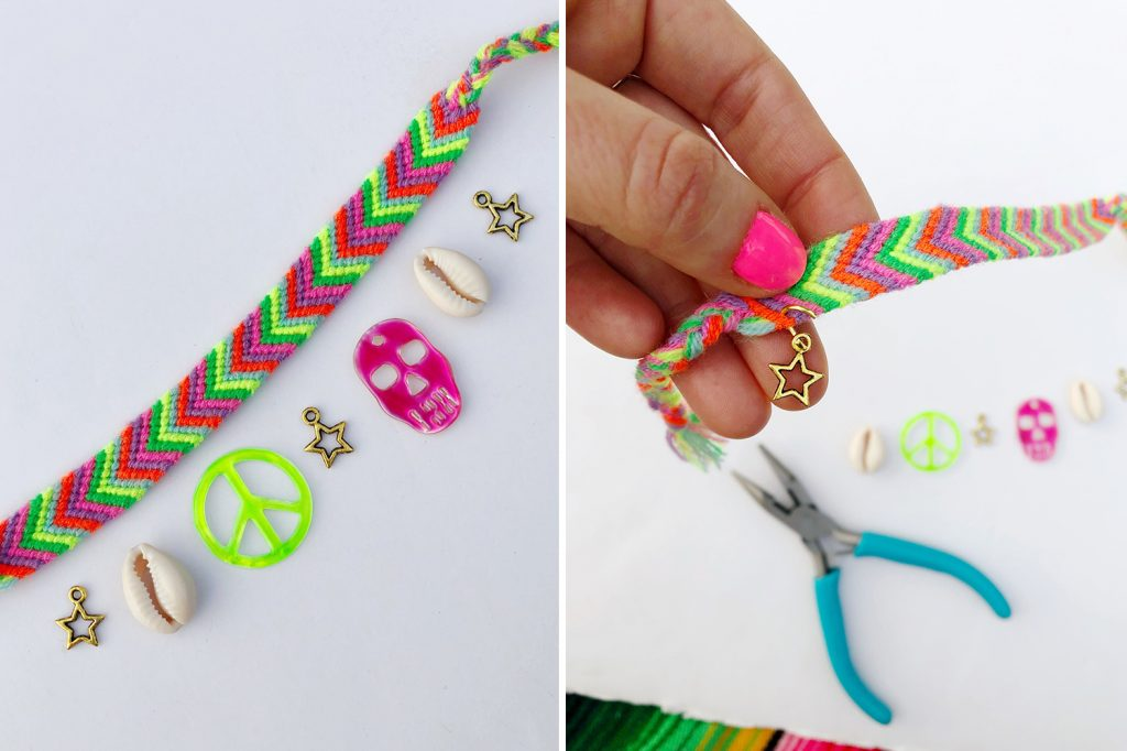 The Neon Tea Party DIY Embellished Friendship Bracelets