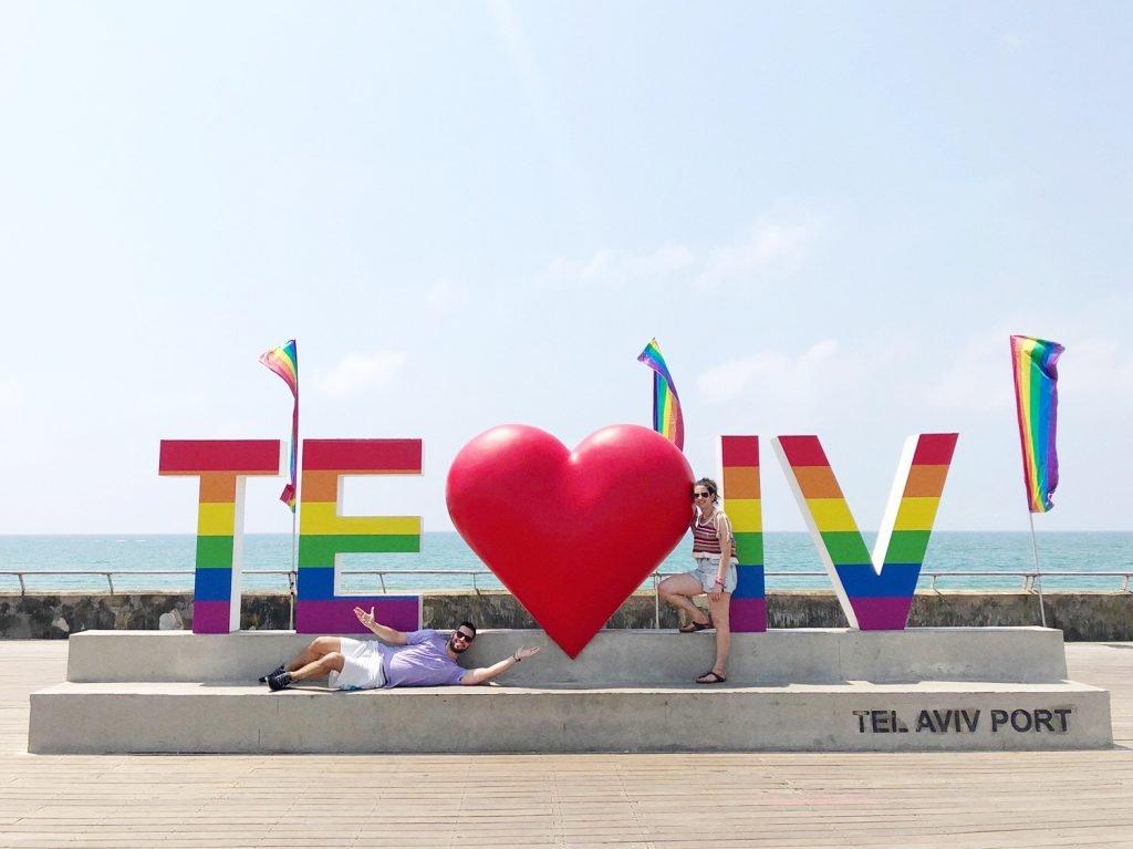 Tel Aviv Pride Port I Love Tel Aviv Statue