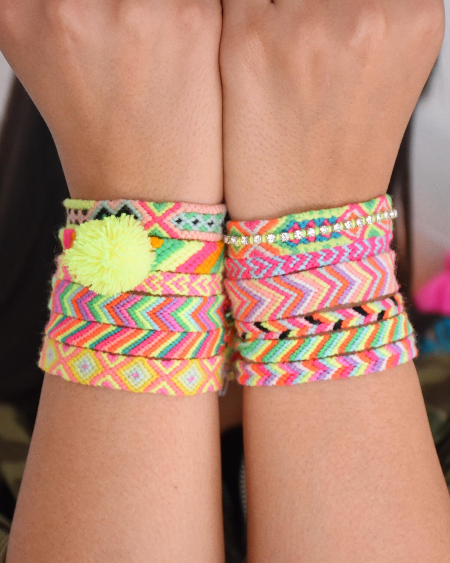 The Neon Tea Party Friendship Bracelets vertical
