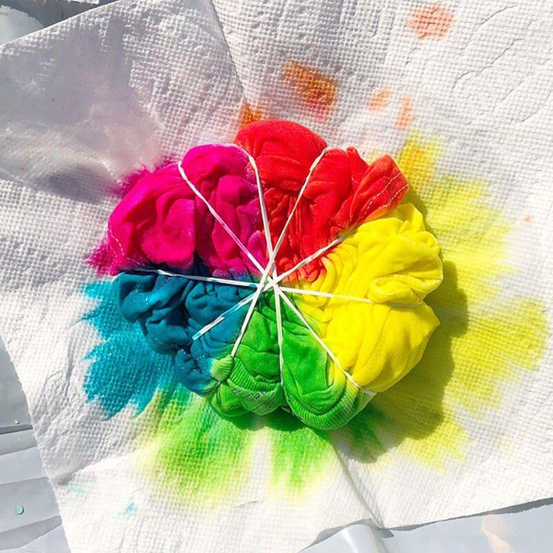How to Tie Dye Swirl Pattern