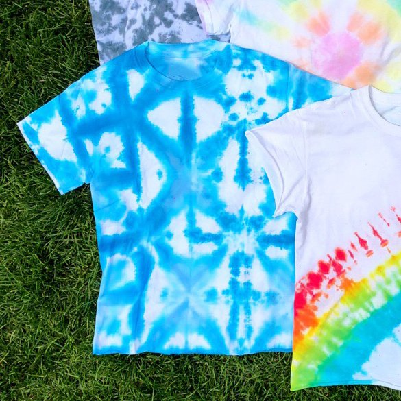How to Tie Dye Square & Triangle Pattern