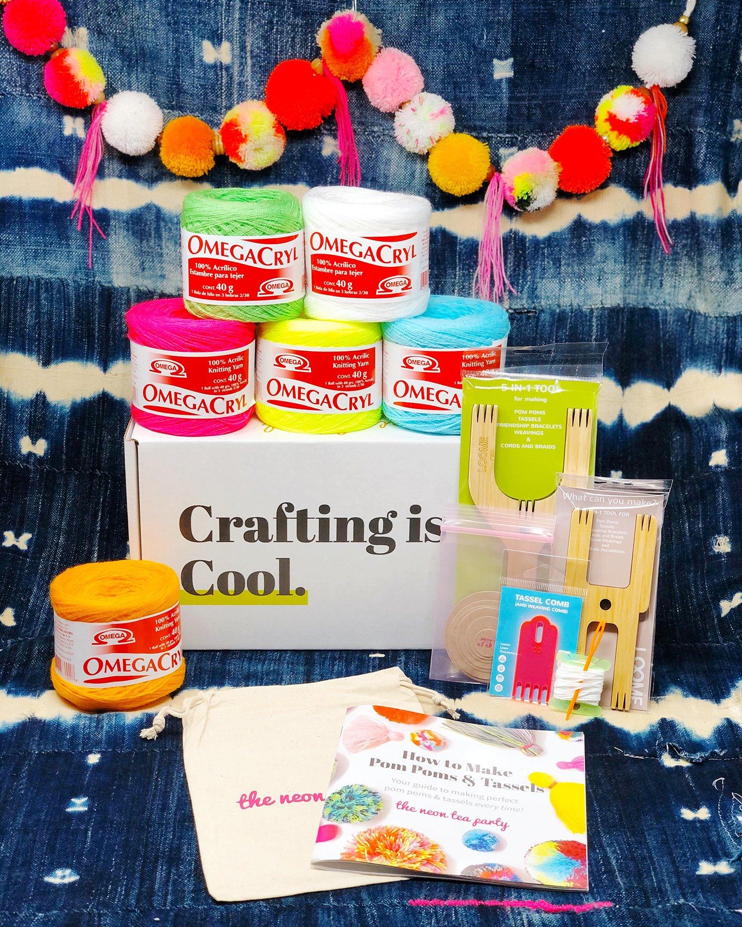 Pom Pom & Tassel Deluxe DIY Kit from The Neon Tea Party