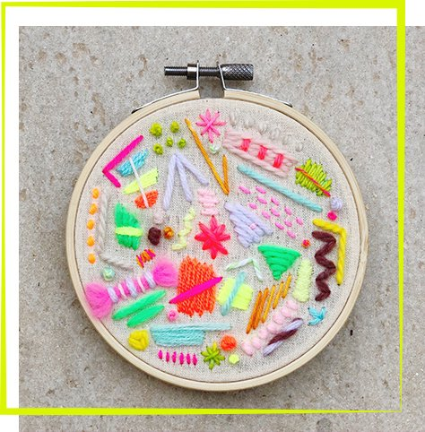 The Neon Tea Party Process Embroidery Workshop