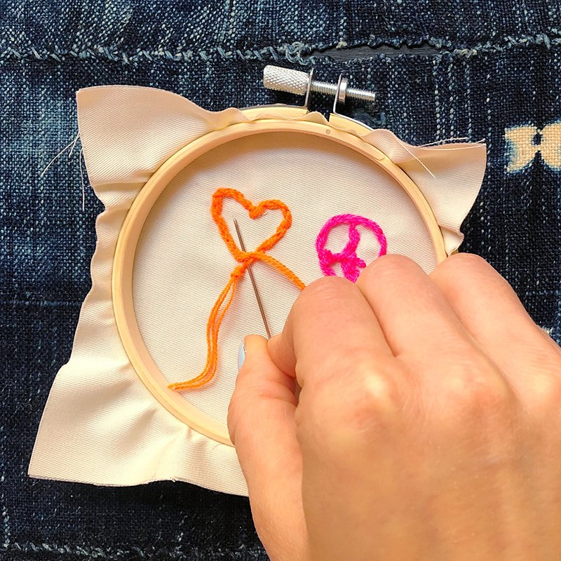 The Neon Tea Party - Step-by-Step - Backstitch 11